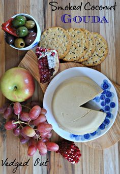 Smoked Coconut Gouda (Part Deux) and the Cheesegate Incident Non Dairy Cheese, Vegan Cheese Recipes, Delicious Vegan Recipes, Vegan Foods, Vegan Vegetarian, Vegetarian Recipes, Cooking Recipes, Healthy Recipes, Vegan Recepies