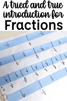 Build a concrete understanding with this introduction to fractions. Students explore fractions of a shape, fraction strips, with these hands-on resources. Teaching Fractions, Math Fractions, Comparing Fractions, Equivalent Fractions, Third Grade Reading, Third Grade Math, Fraction Activities, Math Games, Math Activities