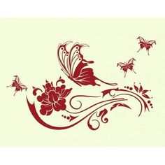 "Style and Apply Butterfly Vine Wall Decal Size: 44"" H x 71"" W, Color: Turquoise"
