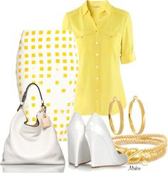"""""""Yellow, yellow ..."""" by mrsbro on Polyvore"""