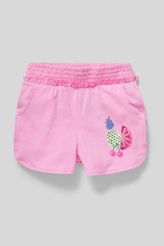 Navy blue flower print or white stripe age 5-14  new summer M/&S girls shorts