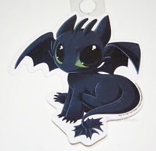 """NEW How to Train Your Dragon 2 movie """"TOOTHLESS"""" Diecut Vinyl Wall STICKER"""