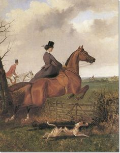 Lady Julia Middleton Sidesaddle And Sir Tatton Sykes 1870 by John Sturgess