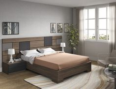 Awesome Camas Modernas Design Ideas for Your Home Decorating and Home Remodeling of The Years Bedroom Bed Design, Bedroom Furniture Design, Small Room Bedroom, Bed Furniture, Bedroom Sets, Modern Bedroom, Bedroom Wall, Bedroom Decor, Double Bed Designs