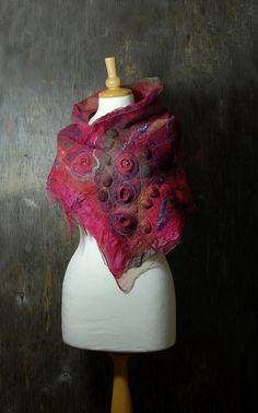 Nuno felted scarf Felted collar nuno felted neck by AnnaWegg