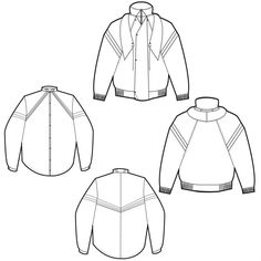 flat drawings for maisha yako project for the young, male traveller check out… Flat Drawings, Flat Sketches, Technical Drawings, Fashion Flats, Fashion Outfits, Work Flats, Flats Outfit, Leather Jacket Outfits, Fashion Sketches
