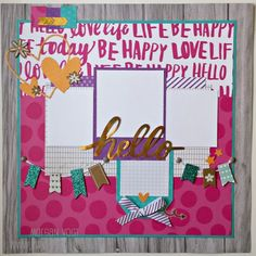 If you like bold, colorful papers, then Adventure Fundamentals are for you! I love creating with this paper because it's so cheery and brig. Scrapbook Sketches, Scrapbooking Layouts, Scrapbook Paper Crafts, Scrapbook Cards, Page Maps, Mini Albums Scrap, 2017 Ideas, Layout Inspiration, How To Make Paper