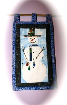 - Snowman Quilted Wallhanging
