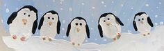 Penguin Family Fingerprints - I'm going to use them for an auction item!  Sooo cute! (see Penguin Vase on this board, done for School Auction - Very popular with the parents) :)
