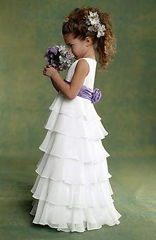 Purple Flowergirl-Dresses | Brides.com