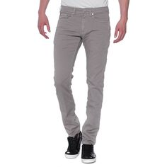 NEIL BARRETT Slim Greige // Clean slim fit jeans ($425) ❤ liked on Polyvore featuring men's fashion, men's clothing, men's jeans, mens low rise jeans, mens slim jeans, mens slim cut jeans, mens slim fit jeans and mens low rise slim fit bootcut jeans