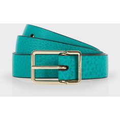 Paul Smith Men's Teal Leather Integrated Keeper Suit Belt ($160) ❤ liked on Polyvore featuring men's fashion, men's accessories, men's belts, teal, mens genuine leather belts, mens belts, mens leather accessories and mens leather belt