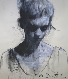 sketch, charcoal, artists, figure drawings, dark eyes, paint, the artist, mark demsteader, portrait