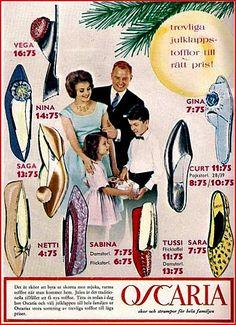 Toffeltips i juletid från Oscaria, 1961.