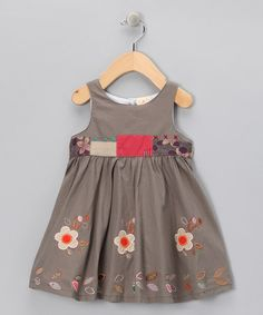 Take a look at this Gray Flower Babydoll Dress - Infant, Toddler & Girls by the Silly Sissy on #zulily today!