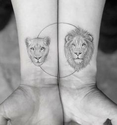 Perfect And Forever Couple Matching Tattoos For The Hopeless Romantics; - Perfect And Forever Couple Matching Tattoos For The Hopeless Romantics; Small Couple Tattoos, Family Tattoos, Love Tattoos, Mini Tattoos, Lion Tattoos For Men, Small Lion Tattoo For Women, Couple Tattoo Ideas, True Love Tattoo, Tattoo Small