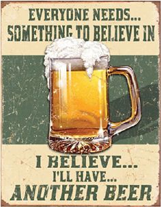 Classic man cave beer sign. only $14.99…