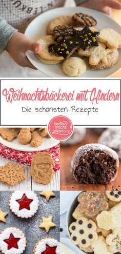 Christmas baking with children - Backen mit Kindern Rezepte - Pastry Recipes, Cupcake Recipes, Cookie Recipes, Cooking Cookies, No Bake Cookies, Christmas Baking, Christmas Cookies, Pastry Logo, Italian Pastries