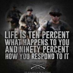 This goes for all aspects of life not just the grunt style life. Motivational Military Quotes, Army Quotes, Inspirational Quotes, Hero Quotes, Wisdom Quotes, Quotes To Live By, Life Quotes, Soldier Quotes, Military Motivation