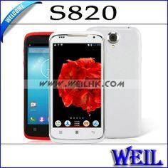 S820 MTK6582 Quad Core1.3GHz Phone 4.7 inch Screen Android 4.2 1GB RAM 4GB ROM Dual Camera 5.0MP Dual Sim 3G Wifi MC0253