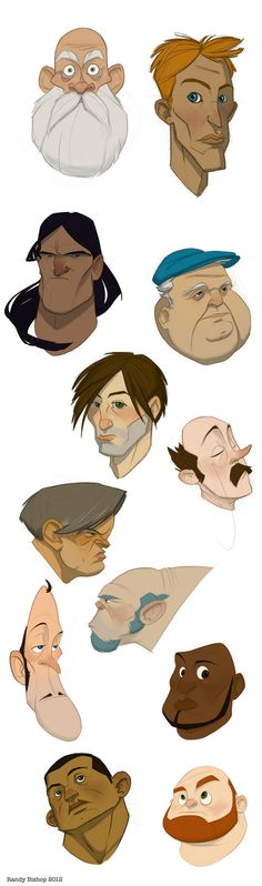 faces by ~randybishopart on deviantART