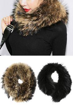 Real Raccoon Fur Neck WarmerMade of real raccoon fur, this neck warmer wraps around your neck giving you warmth and adding luxe vibes to your overall appearance. Pair with your slim-fit knit tops and skirts or pants.
