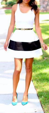 B&W Boulee Dress