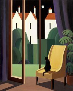 Andy Wooldridge- Canadian Painter - Works View From A Chair x oil / canvas Canadian Painters, Canadian Artists, Landscape Art, Landscape Paintings, Art Deco Posters, Guache, Naive Art, Gouache Painting, Art Graphique