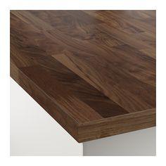 KARLBY Countertop for kitchen island, walnut walnut 74x42x1 1/2
