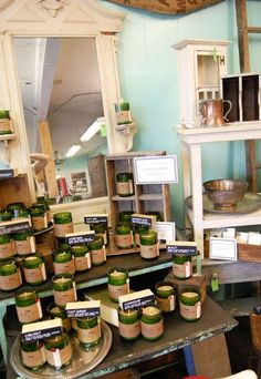Rewined Candles display