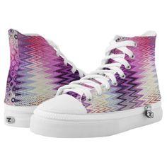 #PASTEL IKAT SWEETNESS High-Top SNEAKERS - #womens #shoes #womensshoes #custom #cool