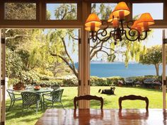 Dining Room With Bayside Views | Cool Houses Daily