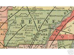 Tontitown Arkansas Map.Washington County Arkansas Map 1909 Fayetteville Springdale