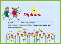 "Diplome pentru ""Școala altfel"" Classroom Management, Map, School, 1 Decembrie, Crafts, Google, Antique, Floral, Art"