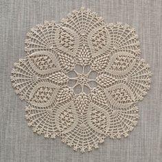 GARDENIA DOILY, Crochet Doily, Lace Doily, Round Doily