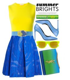 """""""Summer Brights"""" by alaria ❤ liked on Polyvore featuring P.A.R.O.S.H., Yves Saint Laurent, Tata Harper and summerbrights"""
