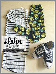 LulaRoe outfits Pineapple leggings, converse and an Irma make the perfect traveling outfit! Click the pin to shop with me on Facebook! LuLaRoe Celina Edwards #traveloutfits