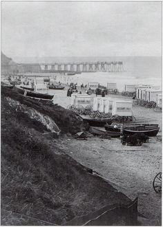 Cromer East Beach and Jetty, 1894 North Norfolk Norfolk Coast, Great Yarmouth, Cromer, British Seaside, Beach Huts, North Coast, Yesterday And Today, Great British, Blue Skies