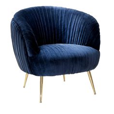 Buy Kellit Royal Blue Armchair by Abhika online with HushHush's Price Promise. Full luxury & Designer collections for sale with UK & International shipping. Blue Armchair, Patterned Armchair, Velvet Armchair, Vintage Armchair, Gold Bedroom, Bedroom Chair, Bedroom Decor, Wingback Accent Chair, Accent Chairs