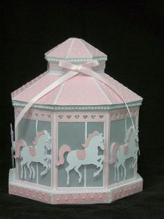 Another fabulous idea to show how versatile SVGCUTS files are!  http://svgcuts.com/     This gorgeous carousel lantern made by Tracey was inspired by using the Gazebo from WINTER GAZEBO SVG KIT.  She added the adorable Carousel Horse from A DAY AT THE CARNIVAL SVG COLLECTION to get the look she wanted!  What a fabulous baby gift!