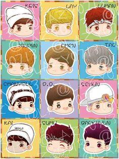 EXO's Chibi Picture - Nice fan art!