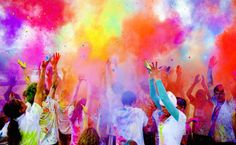 """Color Me Rad, an event promising """"5km of color bombardment"""" and a """"royal rumble of color"""" as the grand finale (all with a portion of the proceeds going to a local charity)."""