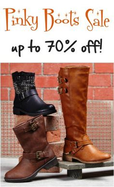 Pinky Boots Sale: up to 70% off!!