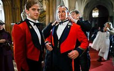 Lord Grantham And Matthew in Downton Abbey.