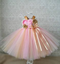 Items similar to Pink and Gold Birthday Tutu Dress, Cake Smash Dress, Baby Dress, Pink and Gold Birthday Dress, Pink and Gold Flower Girl Dress on Etsy Baby Tulle Dress, Gold Flower Girl Dresses, Pink And Purple Flowers, Pink And Gold, Pink Dress, Tutu Dresses, Girls Dresses, 1st Birthday Dresses, Baby Girl Party Dresses
