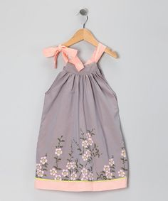 Take a look at this Gray & Blush Naoko Dress - Infant, Toddler & Girls by Sophie Catalou on #zulily today!