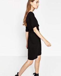 Image 5 of DRESS WITH TIE-WAIST from Zara