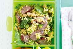 Here's an inspired lunch guaranteed to pep up any lunchbox. Here's an inspired lunch guaranteed to pep up any lunchbox. Moroccan Beef, Couscous Salad Recipes, Beef Recipes, Cooking Recipes, How To Cook Sausage, Easy Salads, Base Foods, Kids Meals, Beef