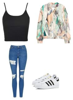 """Untitled #220"" by austynh on Polyvore featuring H&M, Topshop and adidas"