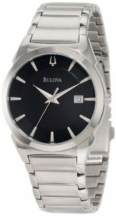 Bulova Men's 96B149 Dress Classic Watch Bulova. $149.25. Stainless steel case and bracelet. Water resistant to 30 meters. Quartz movement. Domed mineral crystal. Black dial